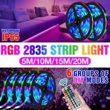 RGB Lighting LED Room Light Strip 2835 12V Diode Tape 5M 10M 15M 20M Lamp Ribbon LED RGBW TV Desktop Screen BackLight Decoration