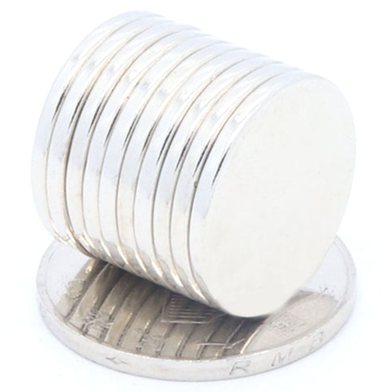 Botique-100 Pcs 20X2 Mm Super Powerful Magnetic Sheets Disc 20Mm X 2Mm Strong Round Magnets N35 NdFeB Lot Neodymium Magnets Shee
