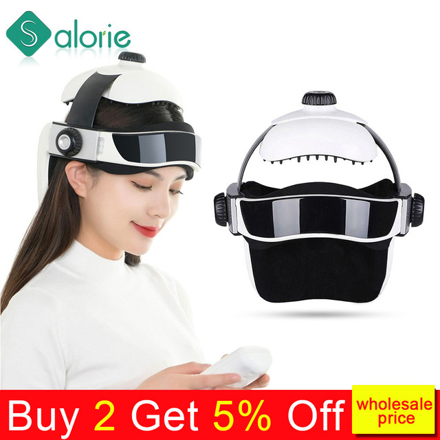 Electric Head Massager Brain Massage Helmet With Music Adjustable Head Size Instrument Household Head Massage Relaxation Device