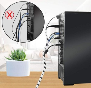 Image 4 - Spiral Cable Wrap Protector Spiral Wire Wrap Cord Tube PC Management for Computer Wire Organizer Sleeve Hose RoHS