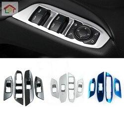 Para chevrolet equinox terceiro ge 2017 2018 2019 estilo do carro interior porta janela interruptor de vidro painel capa guarnição quadro braço elevador 4 pçs