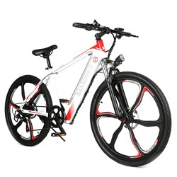 Shipment From US Samebike Sh26 26 Inch Electric Bicycle 350w 8AH  30km/h E-bike With Dual Disc Brakes Mountain Snowbike