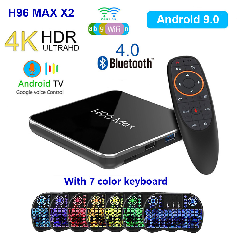 H96 MAX X2 Android TV Box Android 9.0 Smart TV Box 4GB 64GB S905X2 1080P H.265 4K Smart Media Player Support APP installation image