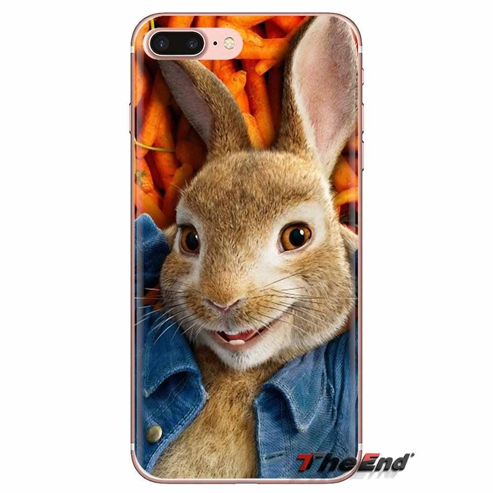 Lindo Peter conejo para Xiaomi mi 6 mi 6 A1 Max mi x 2 5X 6X rojo mi nota 5 5A 4X 4A A4 4 3 Plus Pro suave transparente Shell cubre