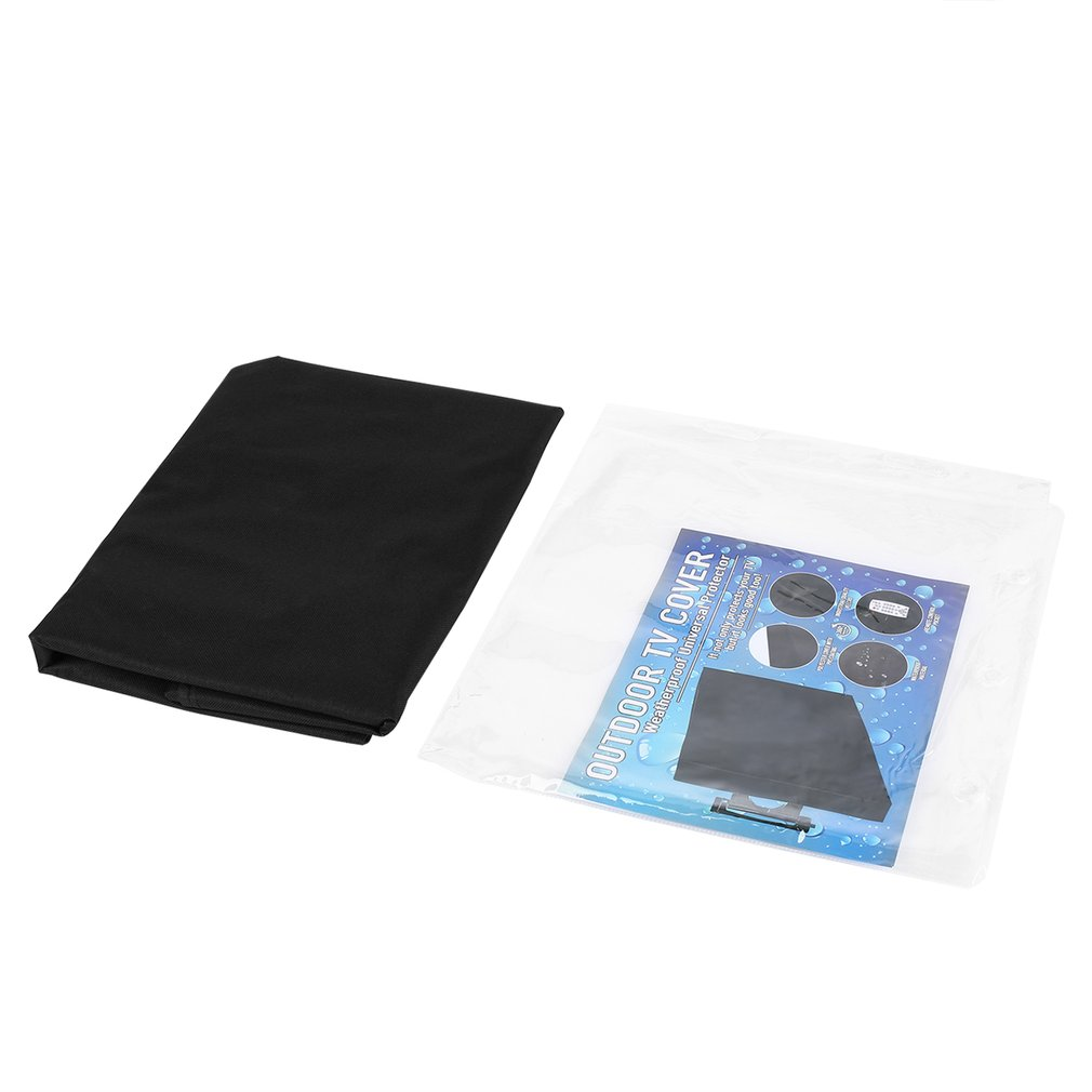 Universal Weatherproof Dust-proof <font><b>Outdoor</b></font> <font><b>TV</b></font> <font><b>Cover</b></font> 50-52 inch Flat Screen <font><b>Cover</b></font> Protector Easy to Install Black image