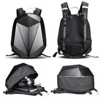 Carbon fiber pattern bag motorcycle backpack helmet storage bag high quality motorcycle bag leisure travel ladies men luggage