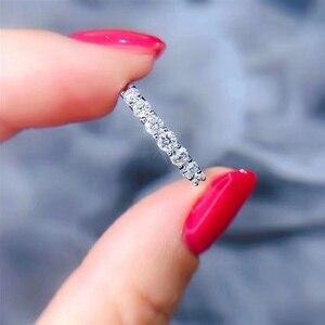 Okrągły srebrny pierścionek Moissanite D VVS luksusowy pierścionek ślubny Moissanite dla kobiet
