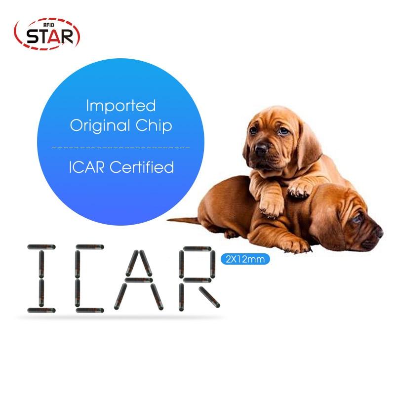 20pcs  T5577 Chip FDX-A Microchip 2.12*12mm Rfid Pet Animal Microchip Transponder 125khz Glass Tube Rfid Tag Implant Chip