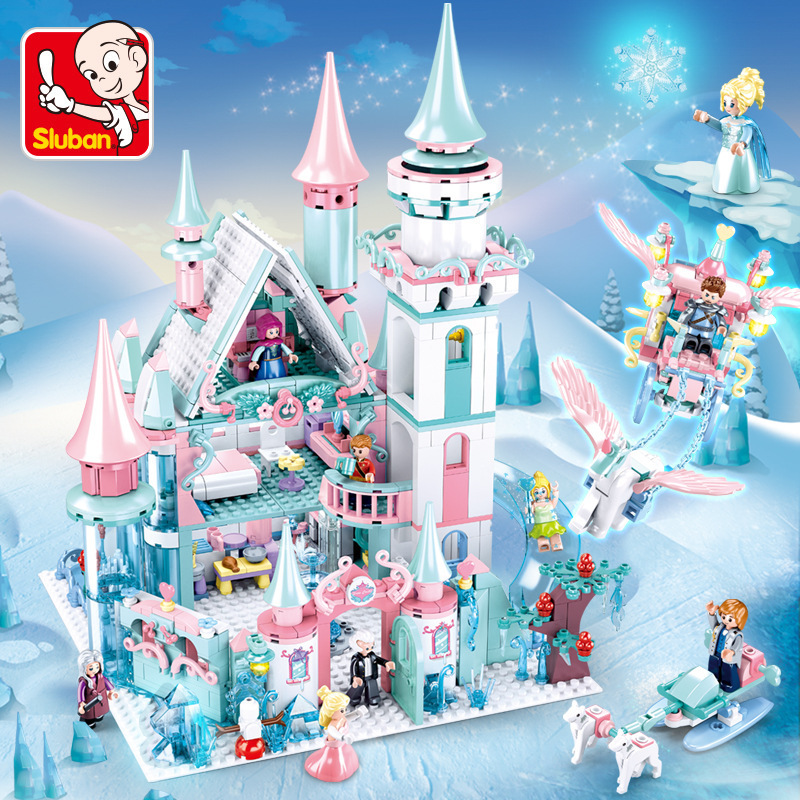 Princess Toys Snow World Series Magical Ice Castle Set Girls Building Blocks Compatible Bricks Toys Girl Friend Birthday Gifts