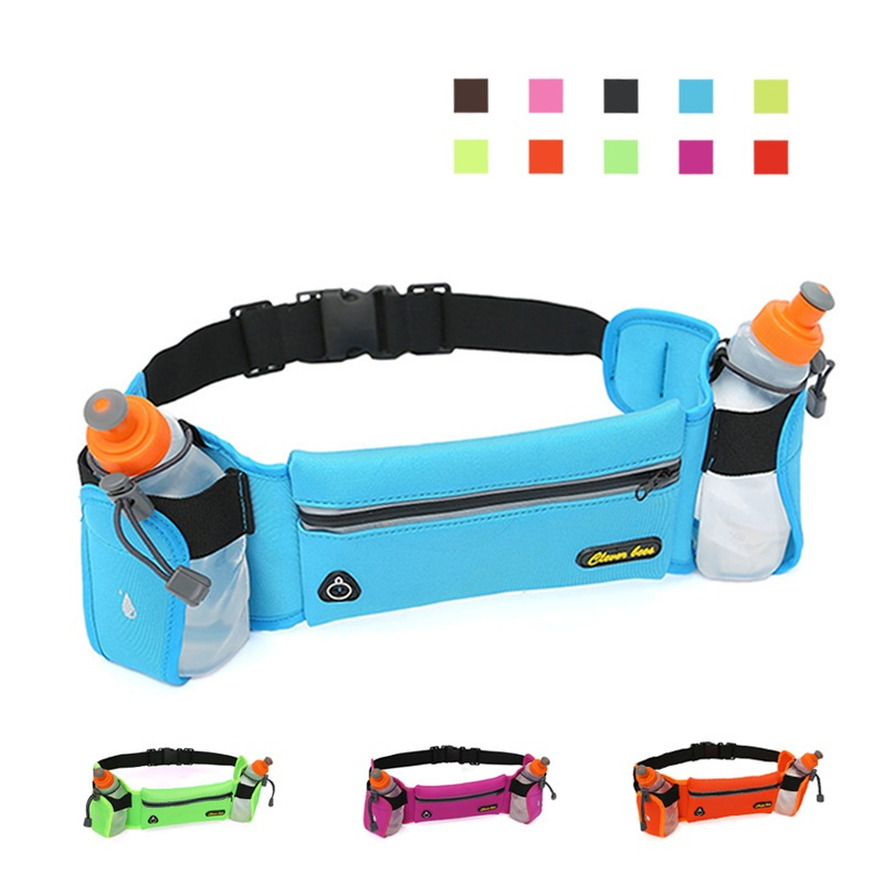 2020 Waist Bags With Water Bottle New Running Reflective Belt Men Women Waist Pack Outdoor Sport Multifunction Running Bags