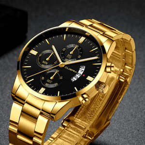 Mens Watches Business Watch Top Luxury Brand Quartz Wrist Watch Military Stainless Steel Waterproof Male Clock Relogio Masculino