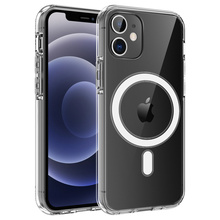 Soft TPU Case for iPhone 12 Pro Max Mini Support Wireless Charging Transperant Protection Phone Case Clear Acrylic Back Cover