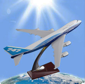 32cm Boeing747 big airplane model Toys airlines aircraft model With base diecast plastic alloy plane collectible gifts for kids