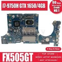 Akemy Motherboard Für ASUS TUF Gaming FX505G FX505GT FX95GT FX95GT9750 Laptop Mainboard I7 9750H GTX 1650/4GB GDDR5|Motherboards|   -