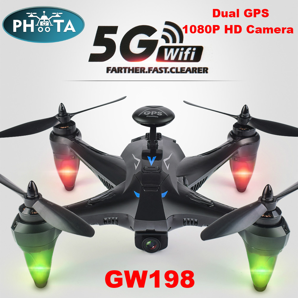 GW198 RC GPS Drone 5G Brushless Motor WiFi FPV RC Quadrocopter Hover Drones Follow Me Drone with Camera Long flight time VS F11