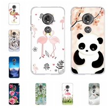 For Motorola Moto E5 Case Soft TPU Silicone G6 Play Cover Cute Cat Pattern E 5th Gen. Funda