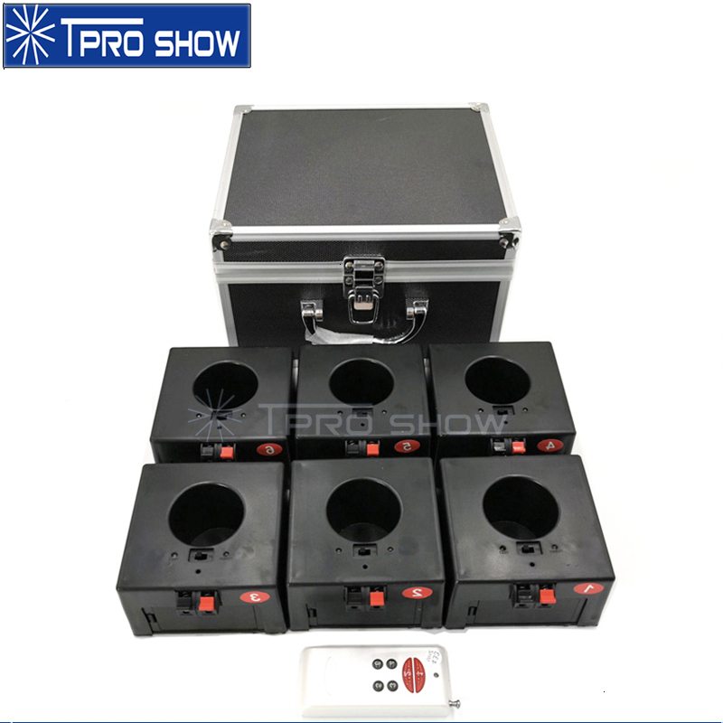 4 6 8 Channel Remote Control Pryo Receiver Wedding Machine Wireless Fireworks System Cold Fire Fountain For Wedding Party Stage