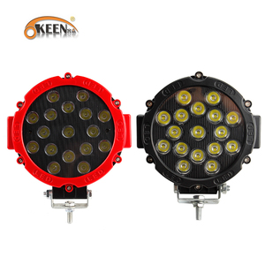 """Image 1 - OKEEN 7"""" off road led light bar 51W LED Work Lights Spot/Flood 2.2in thinkness good cooling surface for Offroad 4WD Tractor"""