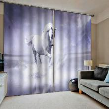 Blackout curtain Horse curtains 3D Window Curtains For Living Room Bedroom Drapes Cortina Customized size customized size luxury blackout 3d window curtains for living room animal curtains kids curtain