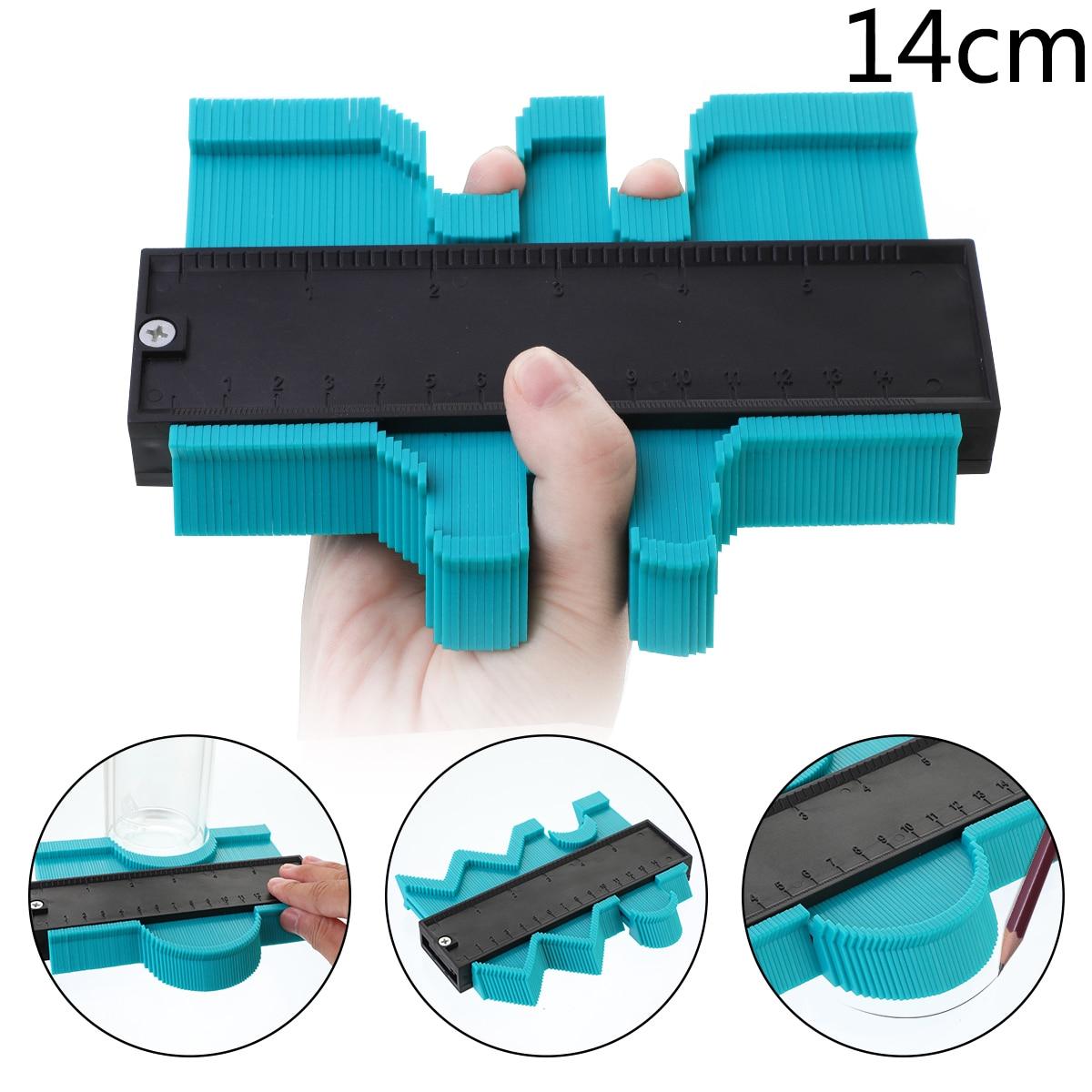Многофункциональный контурный профиль калибровочный плиточный ламинат кромка формирующая деревянная измерительная линейка ABS контурный манометр Дубликатор 5/10 дюймов - Цвет: 14cm