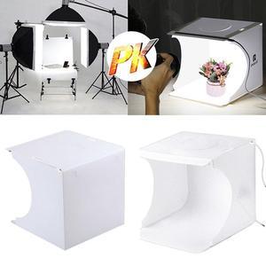 Image 3 - מיני מתקפל Lightbox צילום צילום סטודיו Softbox מצלמה רך אור עבור DSLR תמונה רקע 2 LED פנל תיבת אור קי