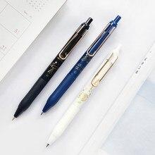 3 pçs galaxy journey gel caneta conjunto astronautas 0.5mm bola ponto preto cor tinta artigos de papelaria escritório escola suprimentos