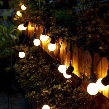 13 м светодиодный Сказочный светильник, молочный шарик, Led глобус, шар, гирлянда, светильник для сада, двора, свадьбы, вечеринки, патио, Декор