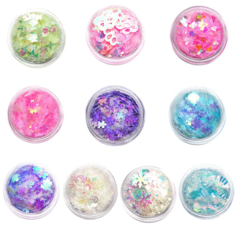 Glitter Sequins Mix DIY Handmade Crystal Epoxy Mold Quicksand Candy Color Decoration Sequins Jewelry Making Filler