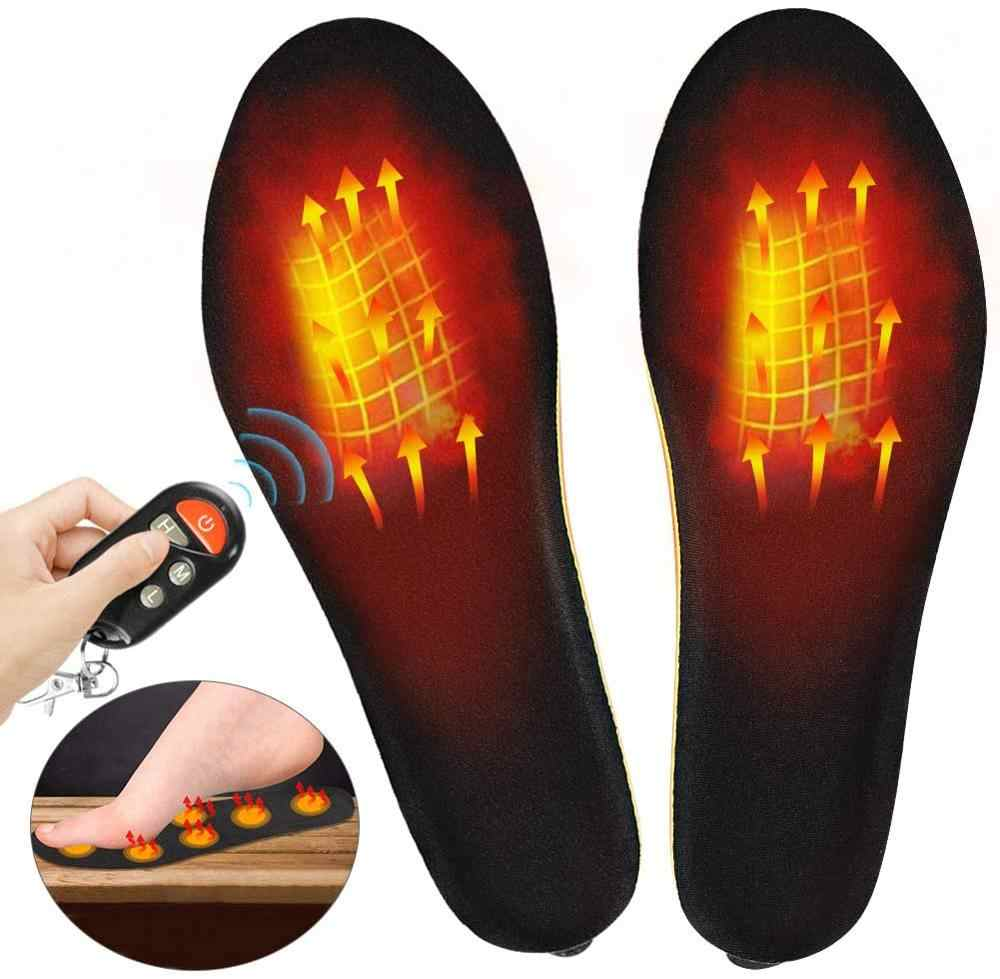 Electric Heated Insoles Rechargeable Foot Warmer Winter Outdoor Heated Shoes Pad