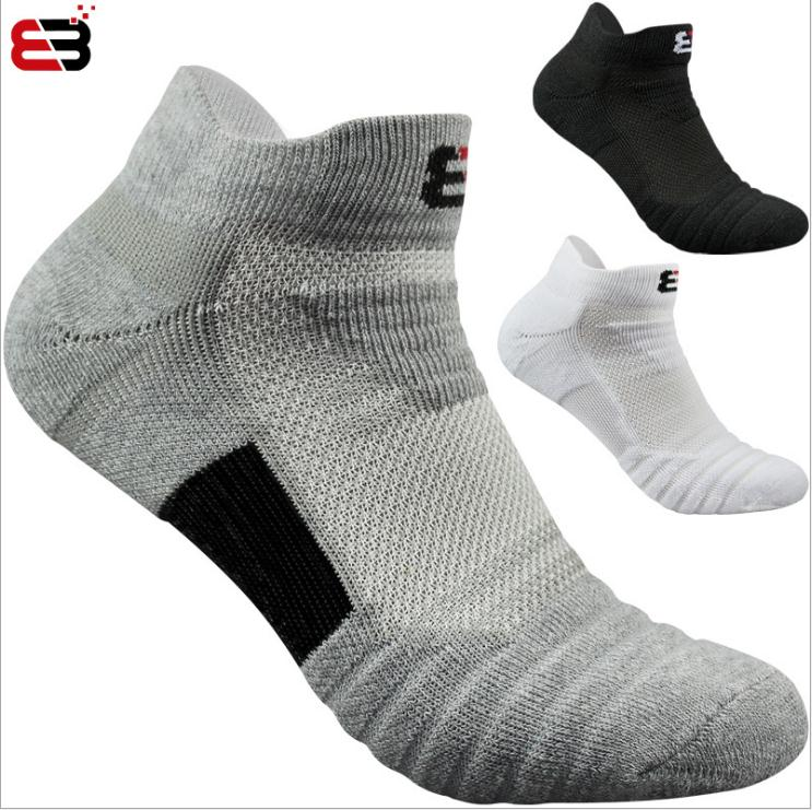Mens Cotton Breathable Cushioning Cushioned Active Trainer Sports Ankle Socks Professional Outdoor Running Sock Size 6-11