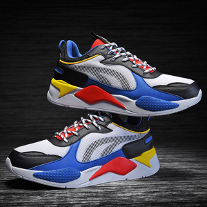 Image 1 - Men Sneakers Lover Thick Sole Platform Vulcanize Man Mixed Color Dad Shoes Trainers Loafers Big Size 36 46 Zapatos Hombre Mesh