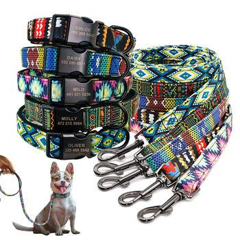 Custom Dog Collar Personalzied Nylon Pet Dog ID Tag Collars Engraved Printed Puppy Collar Leash For Small Medium Large Dogs custom dog collar personalzied nylon pet dog id tag collars engraved printed puppy collar leash for small medium large dogs