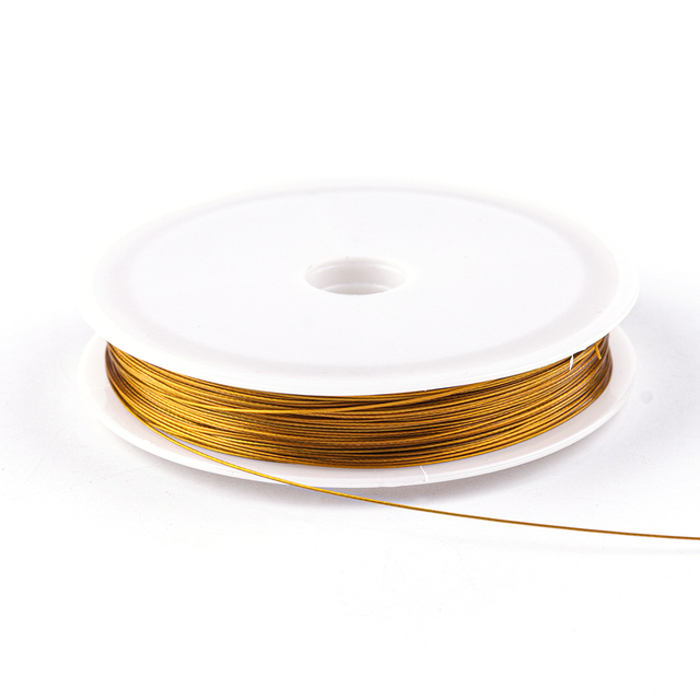 New Gold Color Stainless Steel Wire Beading Rope Cord Fishing Thread String For DIY Necklace Bracelets Jewelry Making Findings 3