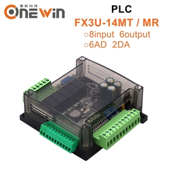FX3U-14MR FX3U-14MT PLC industrial control board 8 Input 6 Output 6AD 2DA and RS485 RTC Compatible with FX1N FX2N - discount item  15% OFF Machinery & Accessories