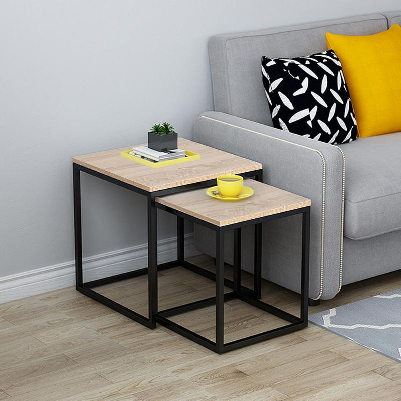 Living Room Coffee Particleboard Tables Modern Simple Square Side Table Coffee Tables Tea Table Household Cofe Furniture HWC