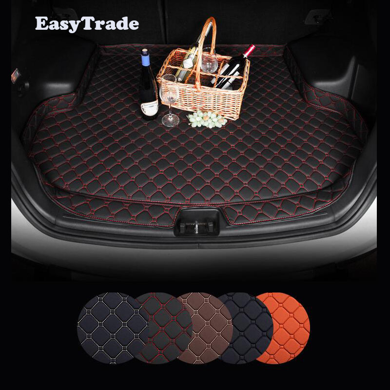 Car Trunk Mats Liner Carpet Guard Protector Goods For Hyundai Kona 2018 2017 2019 Car Interior Styling Accessories