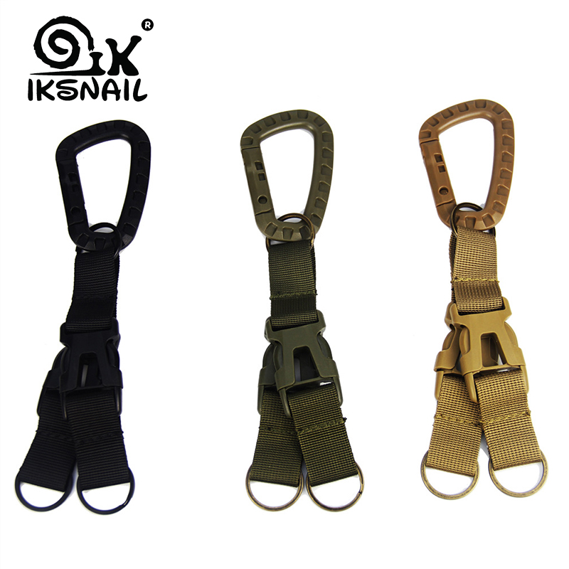 IKSNAIL 3 In1 Multifunction Carabiner Clasp Sport Clip Hook Backpack Molle System Buckle Military Outdoor Bag Camping Climbing
