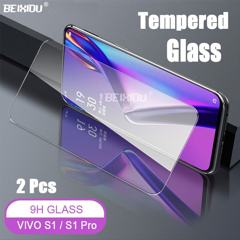2 PCS Full Tempered Glass For VIVO S1 / Pro Screen Protector 2.5D 9h tempered glass on the for Protective Film