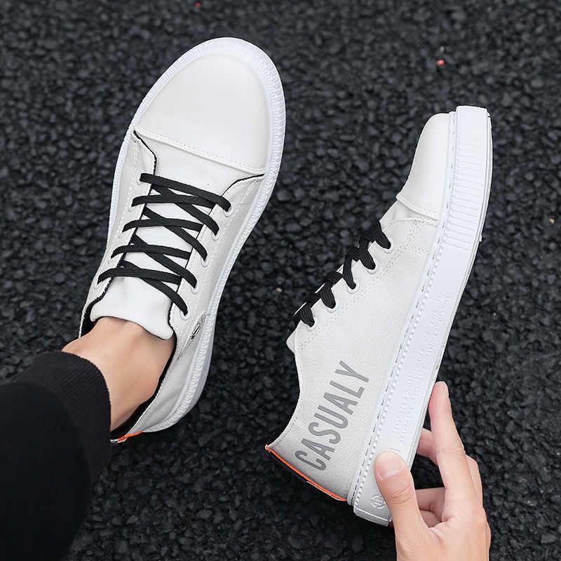 Парусиновая обувь для катания на коньках для мужчин; Новинка 2020 года; Стильная мужская обувь; классические белые туфли в студенческом стиле; однотонная Спортивная повседневная обувь
