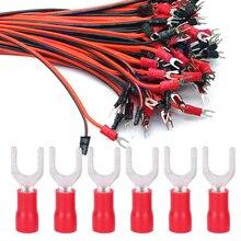 цена на 1000Pcs -Shape SV1.25-5 Red Copper Cold-Pressed Crimp Terminals Wire Connectors Accessory Wire Connector