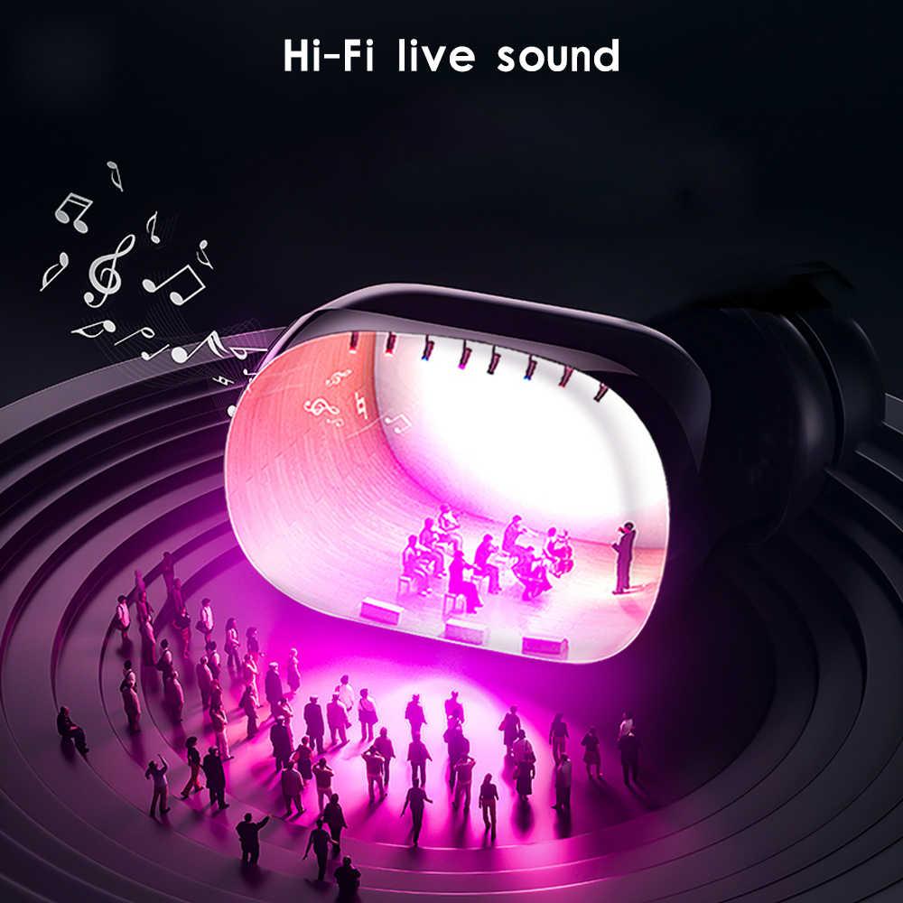 Femperna TWS słuchawki Bluetooth Bluetooth 5.0 LED 3D muzyka stereo słuchawki bezprzewodowe sterowanie dotykowe z 300mAh Power Bank