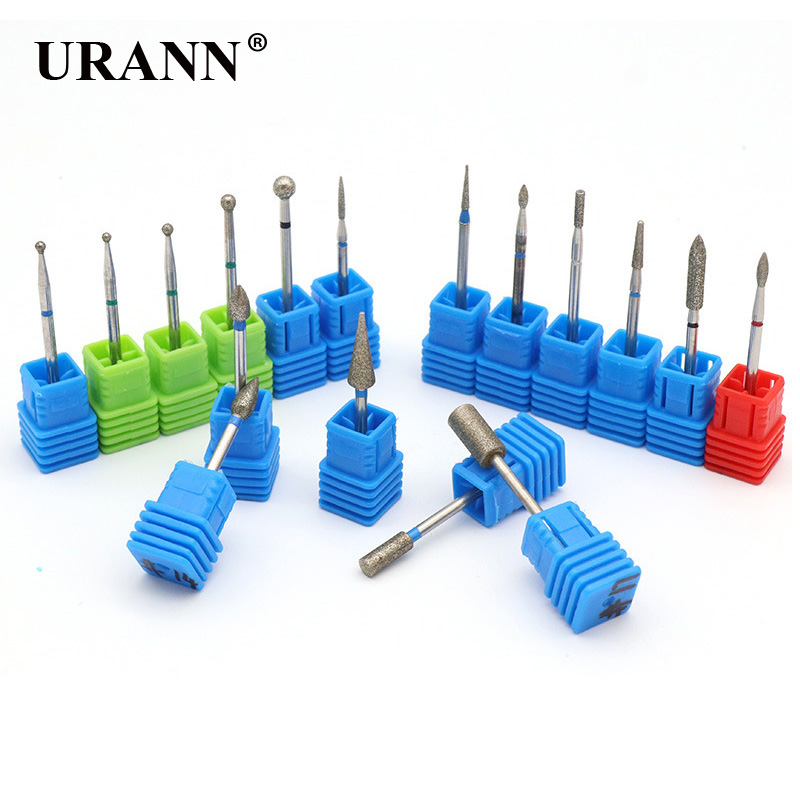 17 Types Diamond Burr Nail Drill Bits Carbide Cuticle Milling Cutter Electric Grinder For Manicure Pedicure Remover Tool