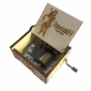 Музыкальная шкатулка из аниме «Драконий жемчуг», Музыкальная шкатулка с рукояткой, резные деревянные музыкальные подарки, игрушечная фигу...