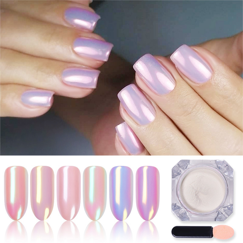 1 Box Mirror Glitter Nail Powder Chrome Pigment  Shining Powder Shimmer Nail Glitter DIY Nail Art Decorations