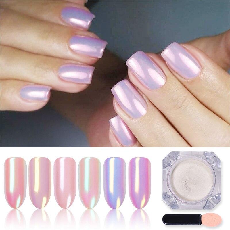 1 коробка Серебряный зеркальный магический пигментный порошок жемчужный блеск для ногтей Блестящий Гель-лак для ногтей хромированный поро...