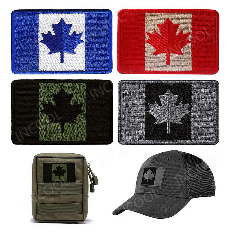 كندا العلم بقع المطرزة الكندية مابل ليف أعلام شعار يزين كامل التطريز شارات للملابس أكياس قبعات