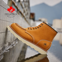 DECARSDZ Fashion Casual Boots Men 2021 Autumn Winter Comfy MD Durable Outsole Men Shoes high quality Genuine leather Men Boots