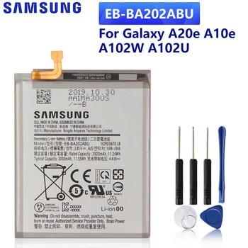 SAMSUNG Original Replacement Phone Battery EB-BA202ABU For Samsung Galaxy A20e A10e A102W A102U SM-A202F Phone Battery 3000mAh samsung original phone battery eb bg355bbe for samsung galaxy core 2 g355h sm g3556d g355 g3559 g3558 g3556d 2000mah