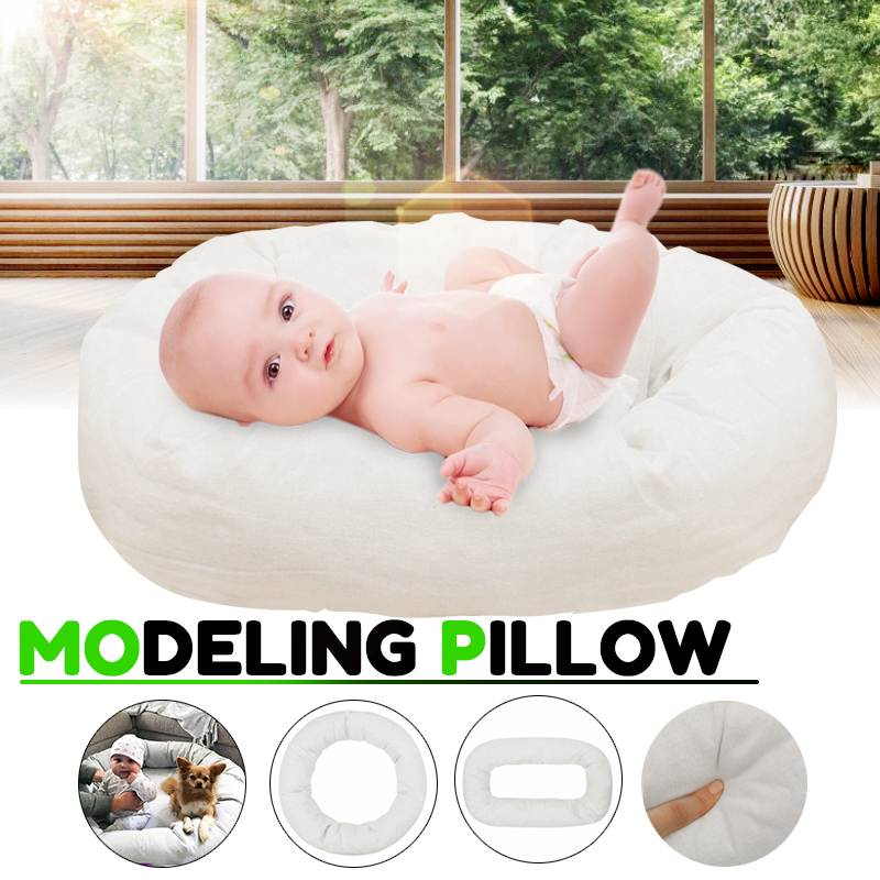Bioby 4Pcs Newborn Photography Props Cycle Ring Round Shape Pillow Baby Photo Prop Backdrop Basket Infant Pictuers Atrezzo Fotos