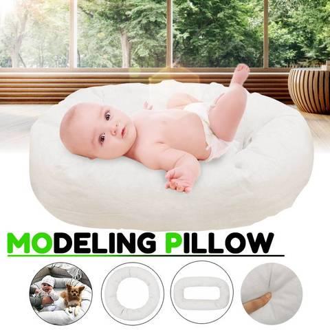 bioby 4 pcs fotografia recem nascidos aderecos ciclo anel forma redonda travesseiro foto do bebe